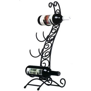 metal wine rack curved